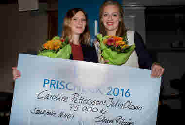 Caroline Pettersson och Julia Olsson, Vårdförbundspriset Vårdgalan 2016