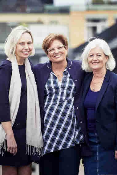 Presidiet 2018. Ragnhild Karlsson, Sineva Ribeiro, Anne Johansson.