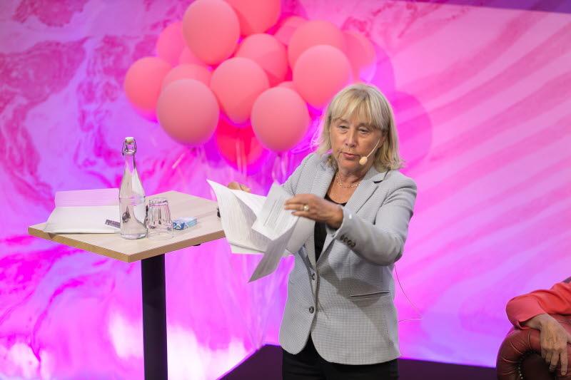Britt-Marie Mattson, moderator på kongressen 2018.