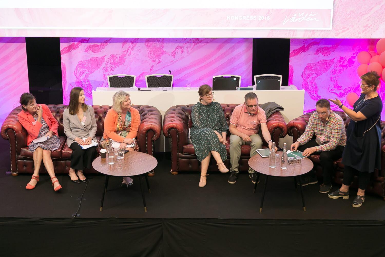 Paneldiskussion, under kongressen 2018.