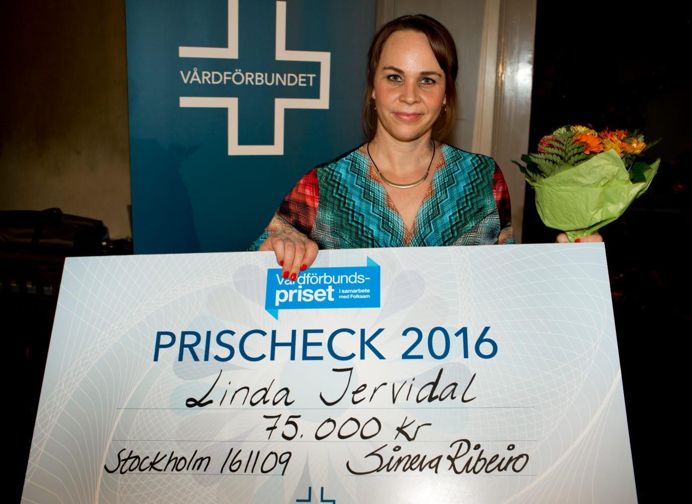 Linda Jervidal, Vårdförbundspriset Vårdgalan 2016