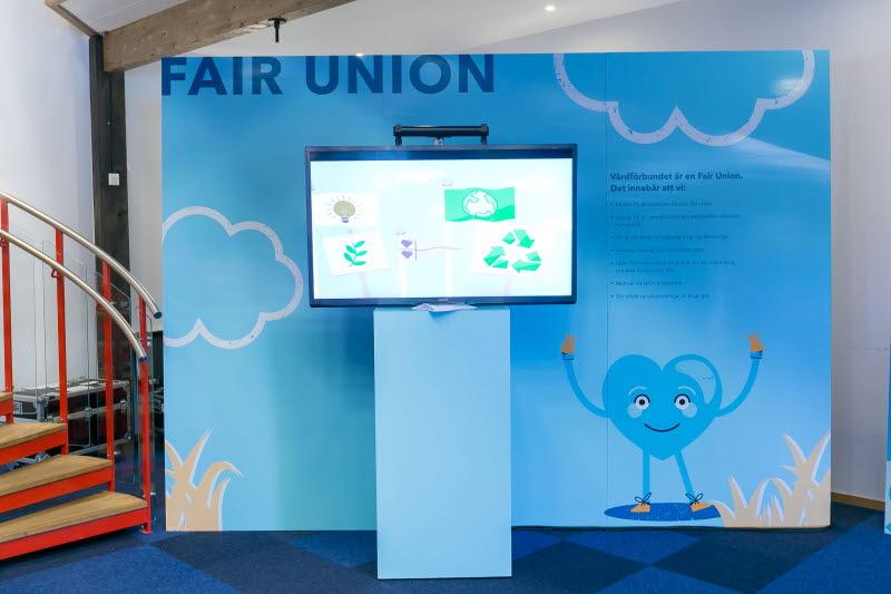 Utställningen Fair union under VF-kongress 2018.