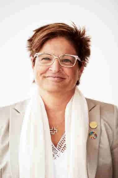 Porträttbild på Sineva Ribeiro, förbundsordförande