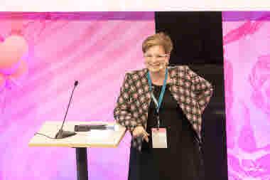 Sineva Ribeiro på kongressen 2018.