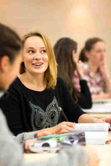 Studenter i skolmiljö. Vårdförbundet Student.