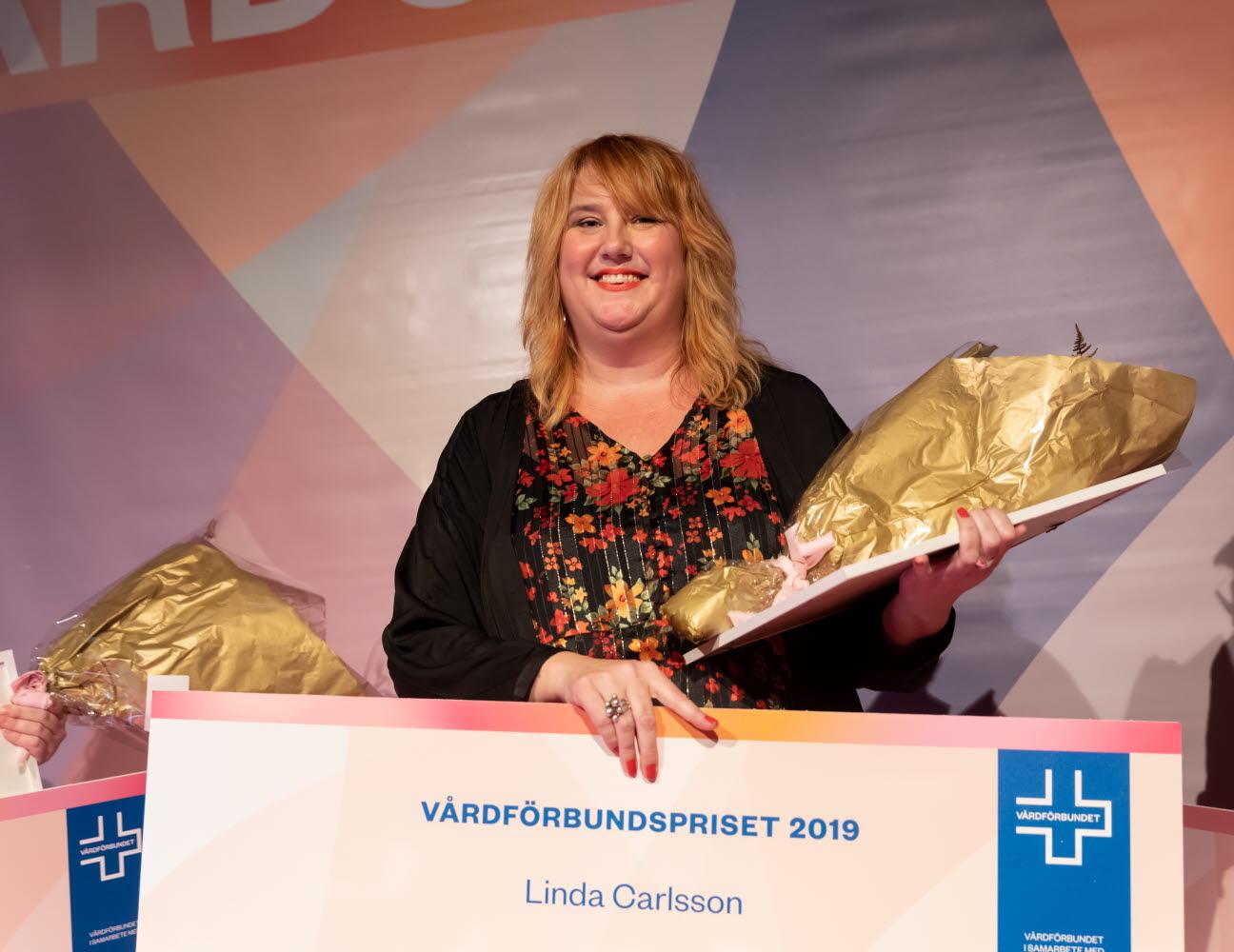 Förstaprisvinnare Vårdförbundspriset 2019. Vårdgalan 2019