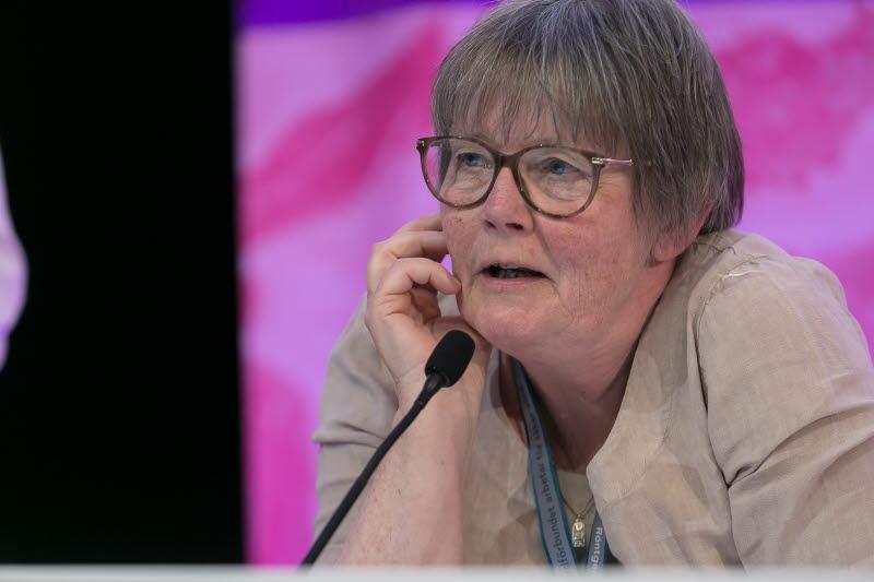 Eva-Lisa Krabbe, fd. förbundssekreterare, under kongressen 2018.
