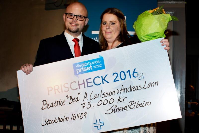 Bea Adriansson Carlsson och Andreas Lann, Vårdfröbundspriset Vårdgalan 2016